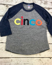Load image into Gallery viewer, cinco birthday shirt, cinco shirt, birthday shirt