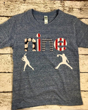 Load image into Gallery viewer, Baseball birthday shirt, baseball shirt, baseball party