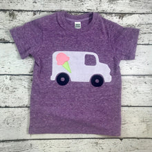 Load image into Gallery viewer, Children's clothing, girls tshirt, ice cream truck shirt