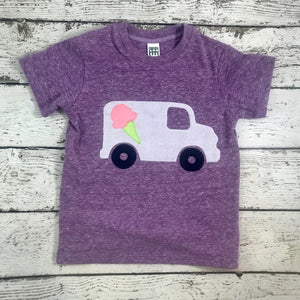 Children's clothing, girls tshirt, ice cream truck shirt