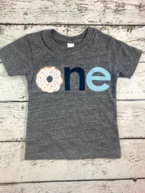 Donut party shirt custom children's tshirt for boy or girl sprinkles and donut tee can be created for any birthday