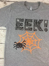 Load image into Gallery viewer, Halloween shirt, spider shirt, EEK shirt