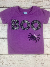 Load image into Gallery viewer, Girls Halloween outfit, girls boo shirt, ghost shirt
