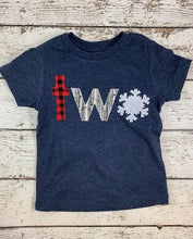 Load image into Gallery viewer, snowflake birthday shirt, WinterOnederland party, onederland party