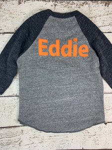 Add a name to your lil threadz design Customize child's name to shirt purchase 1 LETTER