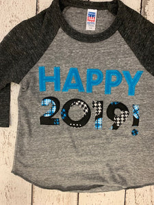 2019 New Year's Shirt, Children's New Year outfit customize colors for boy or girl, 2019 shirt