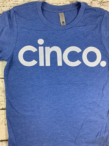 cinco birthday shirt, cinco, spanish birthday shirt