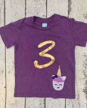 Load image into Gallery viewer, unicorn  birthday shirt, unicorn party, unicorn outfit