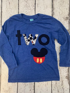 Mickey birthday shirt, boys birthday shirt, birthday shirt for boys
