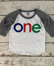 Load image into Gallery viewer, First birthday shirt, one shirt, 1st birthday tee