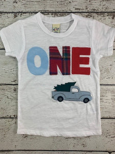 vintage pick up truck birthday shirt, little blue truck shirt, Little blue truck Birthday