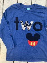 Load image into Gallery viewer, Mickey birthday shirt, boys birthday shirt, birthday shirt for boys