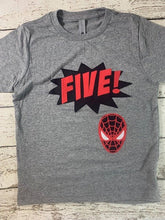 Load image into Gallery viewer, Superhero shirt, superhero party, spider shirt