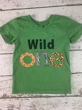 Load image into Gallery viewer, Wild one outfit, First birthday shirt, Wild 1