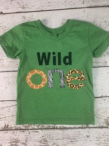 Wild one outfit, First birthday shirt, Wild 1