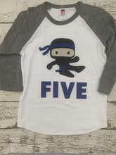 Load image into Gallery viewer, ninja birthday shirt, ninja shirt, ninja party