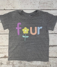 Load image into Gallery viewer, floral birthday shirt for girls, flower shirt, floral birthday outfit