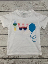 Load image into Gallery viewer, rainbow shirt, rainbows and balloons, Balloon party