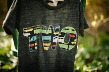 Load image into Gallery viewer, Boys Birthday Tee Organic Shirt Blend Plaid Cars and Trucks, car party