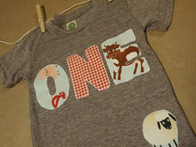 Load image into Gallery viewer, Farm party, farm animal shirt, Barnyard party