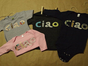 Ciao Bambino Tee Infant and Toddler Shirt or one-piece Organic blend for boys and girls houndstooth and plaid