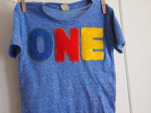 Load image into Gallery viewer, Primary Colors Birthday Tee Organic Shirt Blend perfect for boys or girls all party themes first second third fourth