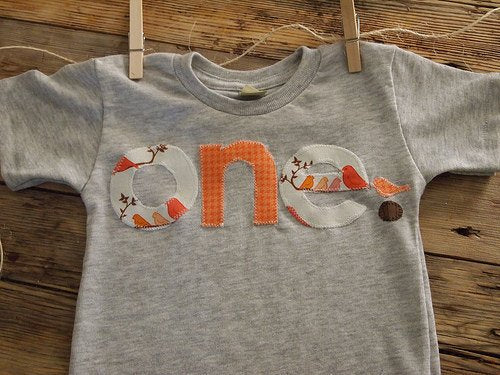 Bird Tee Woodland Sparrow Birthday Tee perfect for first second third birthday Girls Birthday Shirt