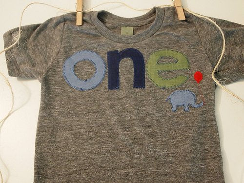 Elephant Tshirt Birthday shirt Customize colors Boys Girls Organic Blend Birthday Tee first birthday shirt