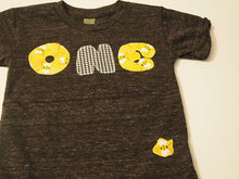 Load image into Gallery viewer, Bumble Bee Birthday Tee Organic Blend Colorful Birthday Shirt first birthday etc customize