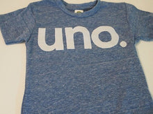 Load image into Gallery viewer, uno Birthday Tee, Organic Shirt, kid's birthday shirt