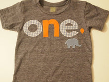Load image into Gallery viewer, First birthday shirt, elephant birthday decor, Elephant and balloon