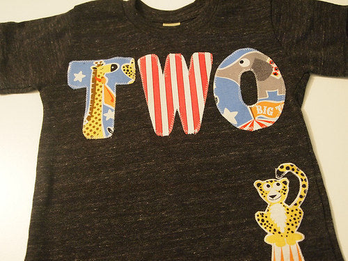 Circus Animal theme Birthday Shirt Organic blend birthday tee for boys and girls Carnival elephant zebra clown