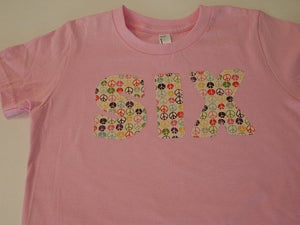 Peace Signs Shirt Girls Pink Shirt birthday shirt add name select color