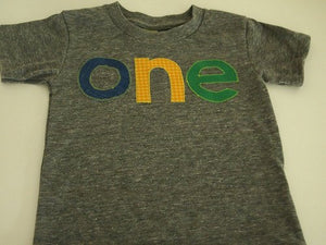 Blue Green Yellow Birthday Tee Organic Shirt Blend Primary colors balloon shirt first birthday second etc