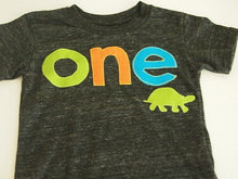 Load image into Gallery viewer, Turtle theme shirt Birthday Shirt Organic Blend turtle tortoise adorable first birthday second birthday etc boys or girls
