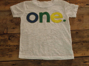 Primary Colors Birthday Tee Organic Shirt Blend Blue Green Yellow first birthday second etc
