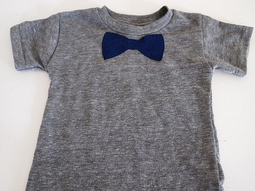 Bow Tie Shirt Baby Toddler tee boys tshirt Organic blend perfect for birthday