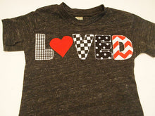 Load image into Gallery viewer, Valentine's day shirt chevron polka dot childrens Valentines Day shirt for Boys and Girls