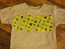 Load image into Gallery viewer, Clover Shamrock Shirt Saint Patrick's Day tee childrens shirt green St. Paddy's