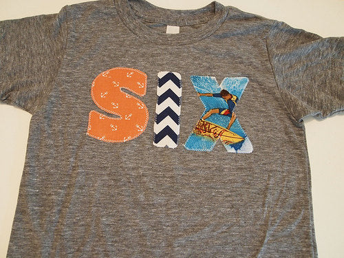 Beach Surfer party Nautical Theme Birthday Shirt chevron vintage