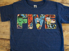Load image into Gallery viewer, Superhero birthday shirt, superhero shirt, superhero party