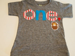 Birthday shirt Lion detail carnival party circus Customize colors Boys Girls Organic Blend Birthday Tee first birthday shirt