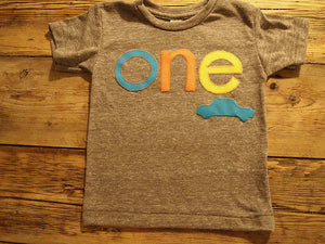 Car Shirt Car Birthday Tee Organic Blend Black Shirt Boys Birthday Shirt blue car