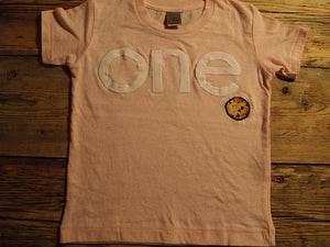 Cookie party Girls birthday shirt pink white brown available for birthdays first second etc