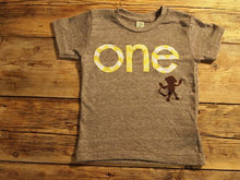 Load image into Gallery viewer, Monkey Birthday Shirt Organic Blend Monkey chevron Birthday Tee custom birthday shirt