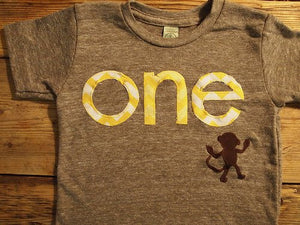 Monkey Birthday Shirt Organic Blend Monkey chevron Birthday Tee custom birthday shirt
