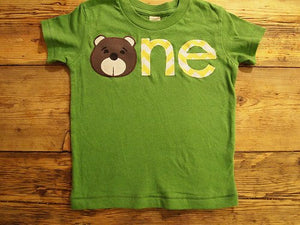 Bear birthday shirt chevron Customize colors Boys Girls Organic Blend Birthday Tee first second etc birthda