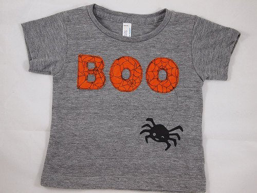Halloween Shirt Childrens Halloween Tee BOO spider web available for baby toddler children