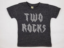 Load image into Gallery viewer, Rockstar birthday shirt rock and roll party two rocks one rocks for any birthday organic blend tee for baby toddler youth guitar music