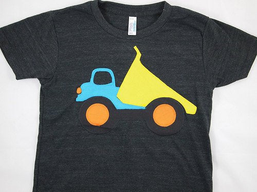 Truck shirt dump truck party theme sibling shirt big bro organic blend tee construction party baby toddler youth sizes